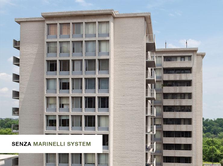 Facciata palazzo senza verde verticale